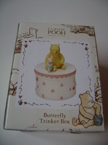 Classic Pooh Bear Butterfly Trinket Box (Pink) from Classic Pooh