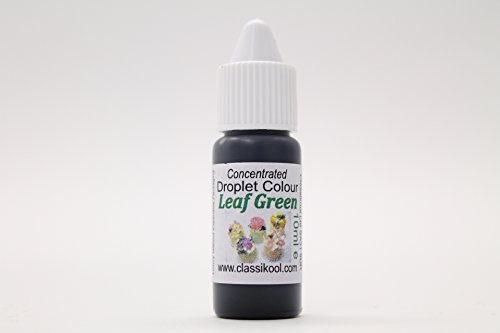 Classikool 10ml Edible Liquid Droplet Sugartint Food Colouring for Baking & Sweets [* Free UK Post] (Leaf Green) from Classikool
