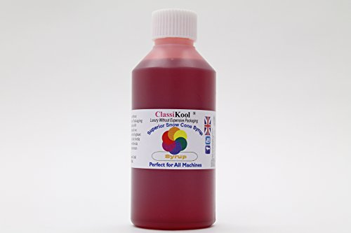 Classikool 250ml Concentrated Snow Cone Syrup: Huge Choice of Colours & Flavours [*Free UK Post] (Cherry, Pink) from Classikool