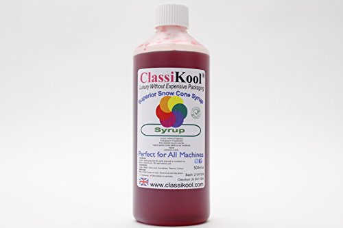 Classikool 500ml Concentrated Snow Cone Syrup: Huge Choice of Colours & Flavours [*Free UK Post] (Strawberry, Green) from Classikool