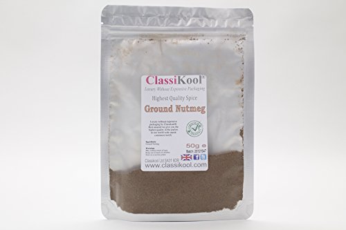 Classikool 50g Ground Nutmeg: High Quality Spice Powder for Cooking & Baking [Free Fast UK Post] from Classikool
