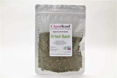 Classikool Dried Basil: Quality Herb for Cooking & Seasoning Pesto, Soups & More [Free UK Post] (50g) from Classikool