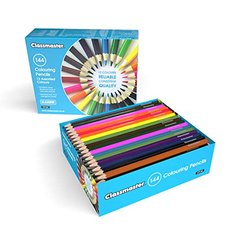 Classmaster CP144 Class box of Colouring Pencils, Assorted Colours (Pack of 144) from Classmaster