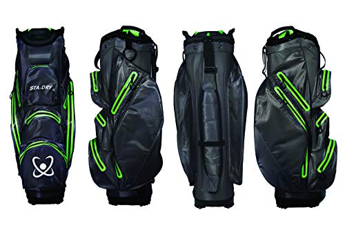STA-DRY 100% Waterproof Golf Cart Bag 2018 Graphite Grey and Lime from Clearance Golf