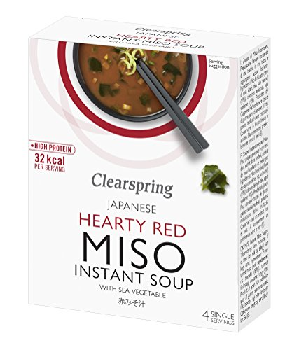 Clearspring | Hearty Red Miso Soup + Sea Veg | 3 x 4x10g from Clearspring