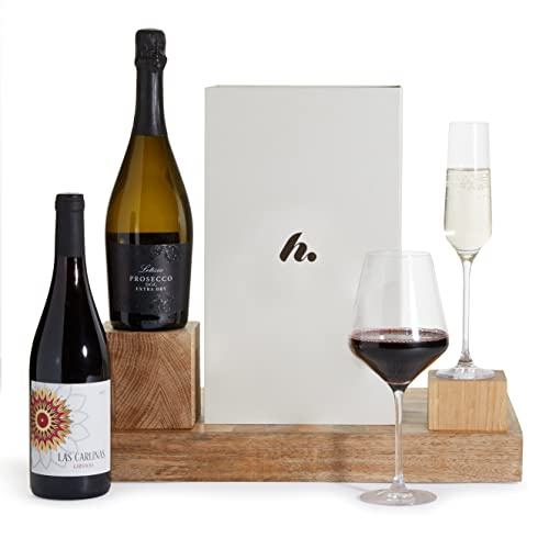Luxury Prosecco & Red Wine Gift Hamper Presented In A Gift Box - Perfect Birthday Wine Hampers from Clearwater Hampers