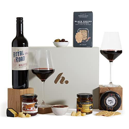 Red Wine Hamper For Him - Men's Hampers & Gift Baskets For Him - Hamper For A Man from Clearwater Hampers