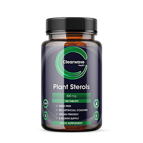 Clearwave Health Plant Sterols 800mg - 200 Tablets - High Strength - GMP Manufactured - Made in UK from Clearwave Health