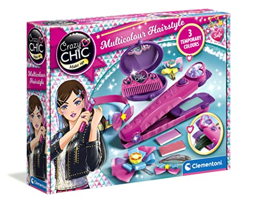 Clementoni 15225 Crazy Chic Hair Straightener, Unisex-Child, Multi-Coloured from Clementoni