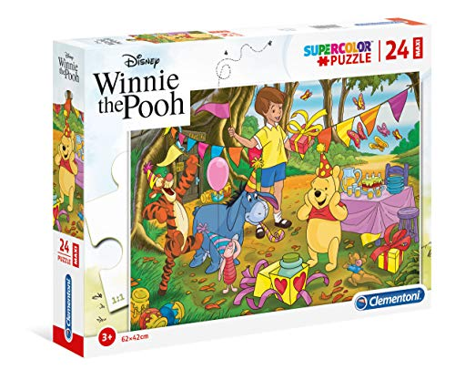 Clementoni 24201 24201-Supercolor Puzzle-Winnie The Pooh-24 Maxi Pieces-Disney, Multicoloured, Multi-Coloured from Clementoni