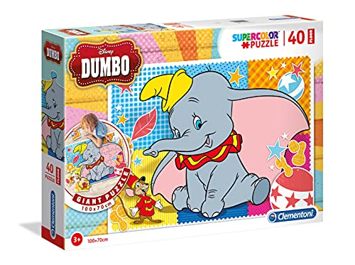 Clementoni 25461 Clementoni-25461 Floor Puzzle Dumbo 40 Pieces Multicoloured from Clementoni