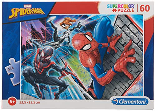 Clementoni 26048 26048-Supercolor Puzzle-Spider Man-60 Pieces, Multi-Coloured from Clementoni