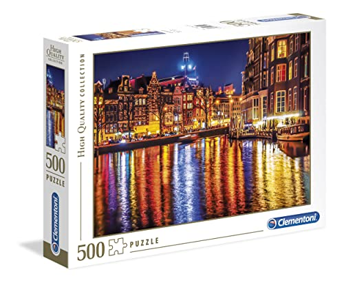 Clementoni 35037 Clementoni-35037-High Quality Collection-Amsterdam-500 Pieces, Multi-Colour from Clementoni