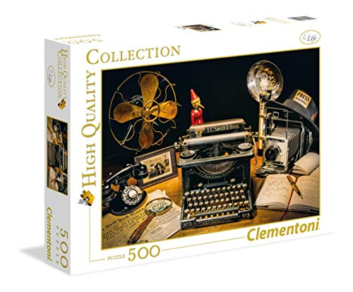 Clementoni 35040.7 Clementoni-35040-High Quality Collection-The Typewriter-500 Pieces, Multi-Colour, 6 (EU) from Clementoni