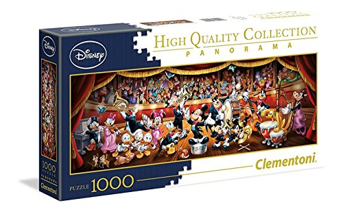 Clementoni 39445 Disney Panorama Collection Clementoni-39445-Disney Orchestra-1000 Pieces, Multi-Colour from Clementoni