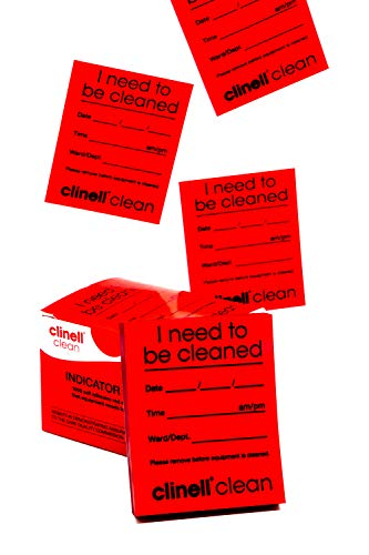 Clinell Indicator Notes - Red - 4 Pads of 250 Notes from Clinell