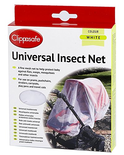 Clippasafe Pram & Pushchair Universal Insect Net (One Size, White) from Clippasafe