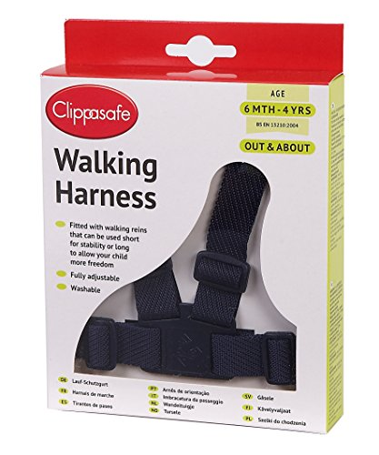 Clippasafe Walking Harness and Reins (Navy) from Clippasafe