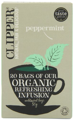 Clipper Organic Infusion Peppermint 20 Tea Bags (Pack of 6) from Clipper