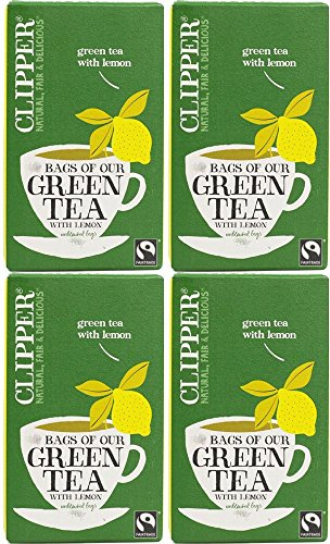 Clipper Organic Green Tea with Lemon - 4 x 20 bags from Clipper