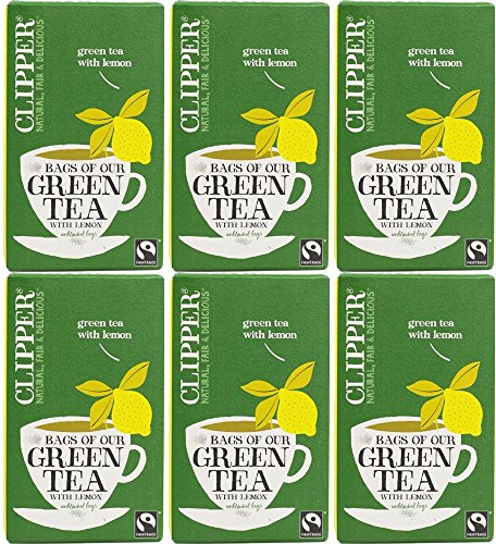 Clipper Organic Green Tea with Lemon - 6 x 20 bags from Clipper