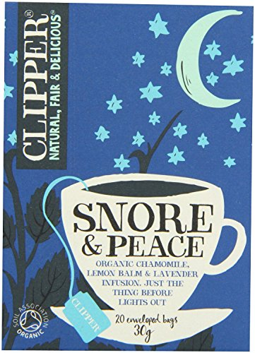 Clipper - Snore & Peace - Lemon Balm & Lavender - 20 Bags x 6 from Clipper