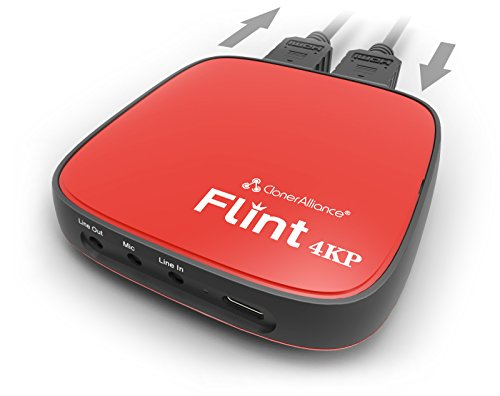 ClonerAlliance Flint 4KP, 4K Passthrough and Live Commentary Video Capture Device. Ultra Low Latency. 1080p 60fps For Gaming Consoles, Camcorder, DSLR from ClonerAlliance