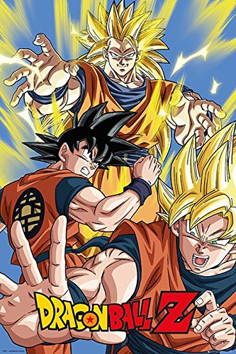 "Dragon Ball Z Poster ""Goku"" (61cm x 91,5cm) + a surprise poster! from Close Up"