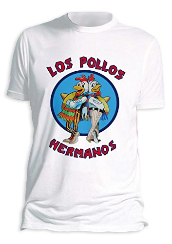 Los Pollos Hermanos T-Shirt Breaking Bad (Large, White) from Close Up