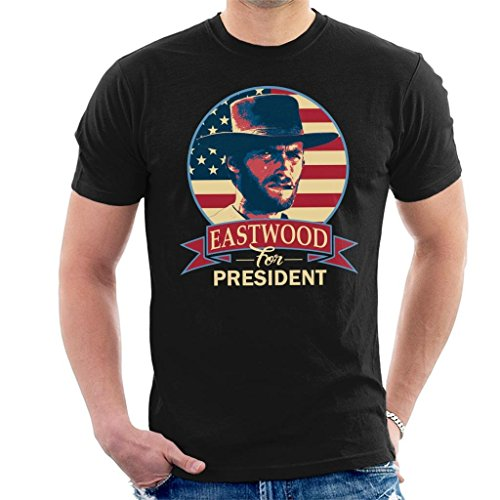 Clint Eastwood for President Men's T-Shirt Black from Cloud City 7
