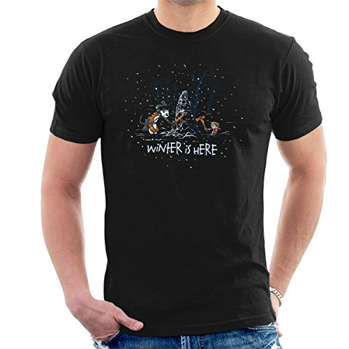 Winter Is Here Calvin And Hobbes Game Of Thrones Men's T-Shirt from Cloud City 7