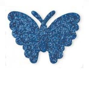 Club Green SELF Adhesive GLITT.Butterfly R/Blue(12) 40X34MM, Fabric Royal, 26.4 x 14.3 x 1.32 cm from Club Green