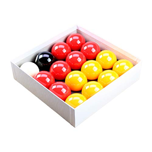 "Red and Yellow 2"" Pool Ball Set with 1 7/8 Inch Cue Ball for Coin Mech Tables from R.L.B.C Sales"