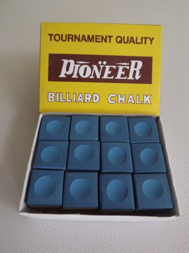 Snooker & Pool Pioneer Chalk, Blue, Box of 12 from ClubKing Ltd
