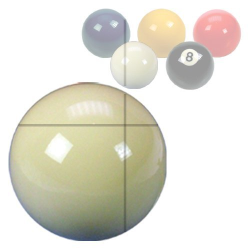 "White Cue Ball 2¼"" from ClubKing Ltd"