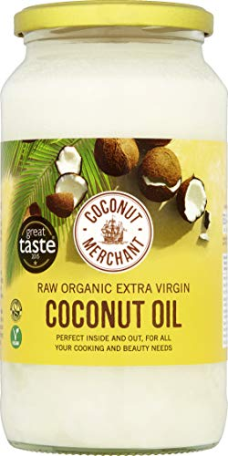 Coconut Merchant Organic Raw Extra Virgin Coconut Oil 1 Litre (Pack of 2) from Coconut Merchant