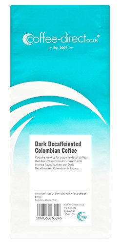 Coffee Direct Dark Decaf Colombian Coffee Filter Grind 454 g from Coffee Direct