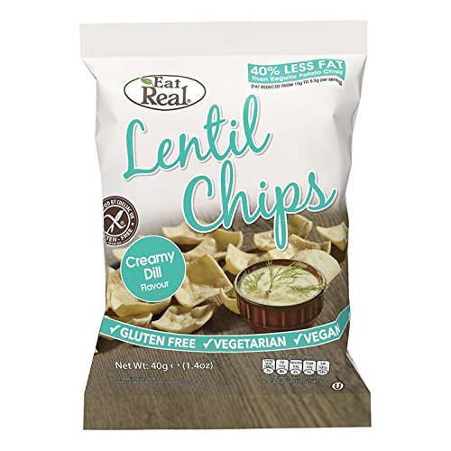 (12 PACK) - Eat Real Lentil Creamy Dill Chips| 40 x 12 gx |12 PACK - SUPER SAVER - SAVE MONEY from Cofresh Snacks Foods Ltd