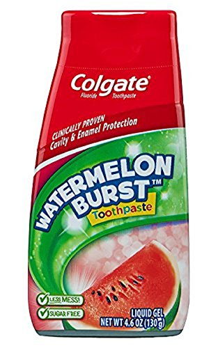 Colgate Kids 2 In 1 Toothpaste & Mouthwash, Watermelon Flavor, 4.6 oz (130 g) from Colgate
