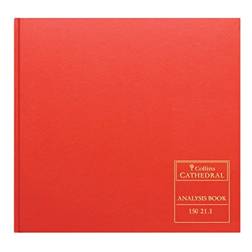 Collins Debden Ltd 061357 Cathedral Analysis Book, 20 Cash Columns, 297 x 315 mm, 96 Pages from Collins