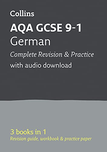 AQA GCSE 9-1 German All-in-One Complete Revision and Practice: Ideal for home learning, 2021 assessments and 2022 exams (Collins GCSE Grade 9-1 Revision) from Collins
