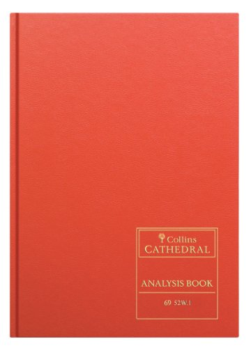 Collins 69/52W.1 69 Series Cathedral Analysis Book 1 Quire, 96 Pages, 52 Columns from Collins