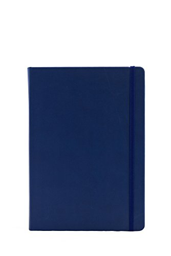Collins Legacy A5 Hard Cover Notebook, 240 80gsm Ruled Pages - Mid Blue Cover from Collins