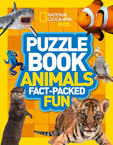 Puzzle Book Animals: Brain-tickling quizzes, sudokus, crosswords and wordsearches (National Geographic Kids Puzzle Books) from Collins