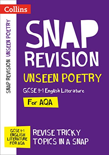 Unseen Poetry: New GCSE 9-1 English Literature AQA (Collins GCSE 9-1 Snap Revision) from Collins