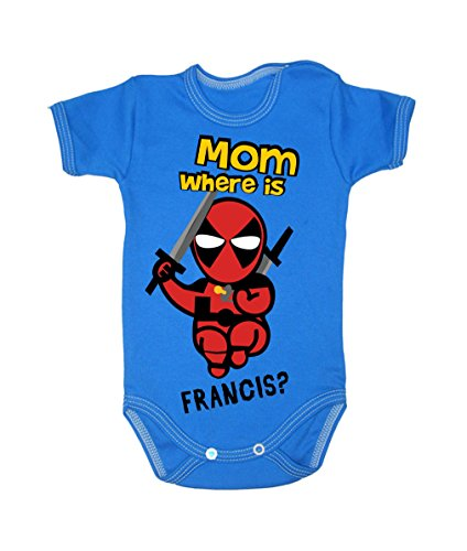 Colour Fashion Baby Deadpool Bodysuits Shortsleeve 100% Cotton 0 - 24 months 0005 (9-12 months, 80 cm, Blue) from Colour Fashion