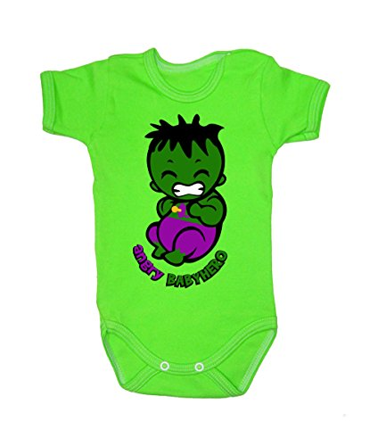 Colour Fashion Baby Hulk Bodysuits Shortsleeve 100% Cotton 0 - 24 months 0009 (12-18 months, 86 cm, Green) from Colour Fashion
