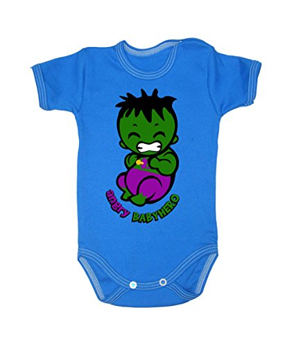 Colour Fashion Baby Hulk Bodysuits Shortsleeve 100% Cotton 0 - 24 months 0009 (3-6 months, 68 cm, Blue) from Colour Fashion