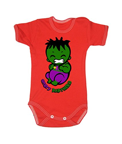 Colour Fashion Baby Hulk Bodysuits Shortsleeve 100% Cotton 0 - 24 months 0009 (newborn, 56 cm, Red) from Colour Fashion