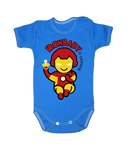 Colour Fashion Baby Ironman Bodysuits 0 - 24 months (12 - 18 months , 86 cm, Blue) from Colour Fashion